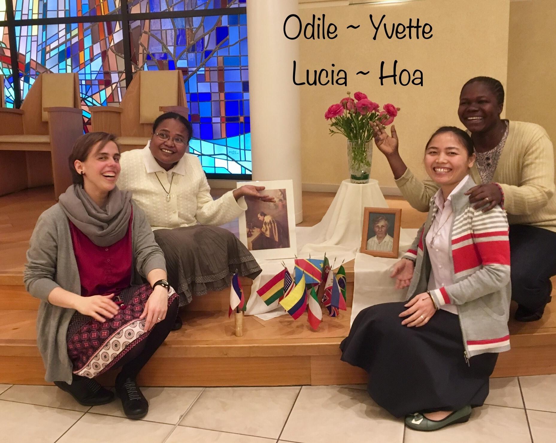 Pendant leur préparation aux voeux définitifs,4 Petites soeurs reçoivent leur envoi missionaire