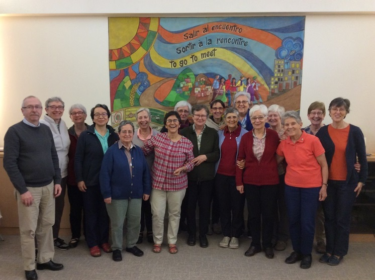 Les Petites Soeurs de l'Assomption qui participent à l'assemblée de Congrégation 2019